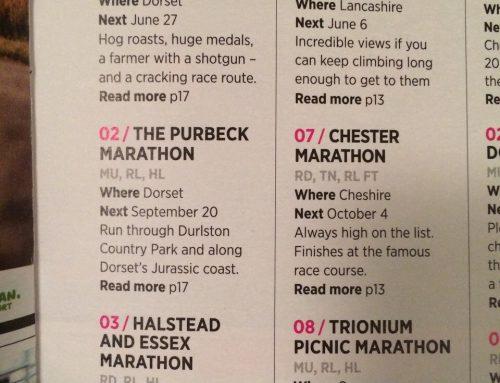 Halstead Marathon voted 3rd best in UK by Runners World